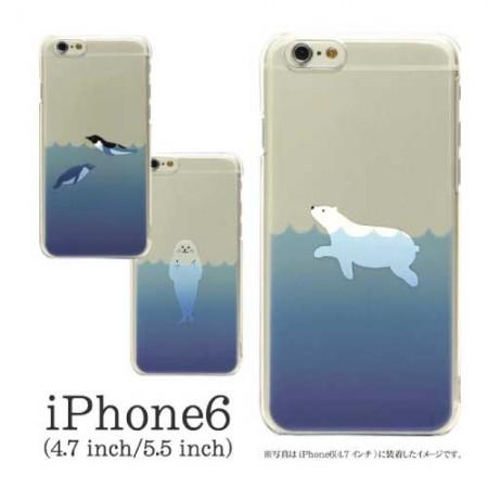 iPhone6s/s ケース おしゃれ 人気 6sPlus,SE/5s/5 シロクマ ソフトケース