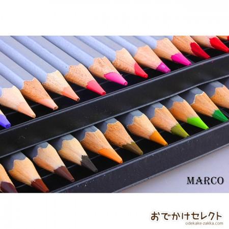 色鉛筆 大人の塗り絵用 72色セット MARCO 油性色鉛筆 オトナの塗り絵に最適 缶ケース入り
