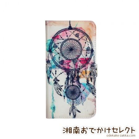 iPhone6ケース 手帳型 おしゃれ女子 iPhone6Plus イラスト開運ドリームキャッチャー