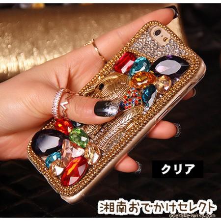 iPhone6 ケース おしゃれ女子 キラキラデコ アジアン雑貨アンティーク風 ゾウ